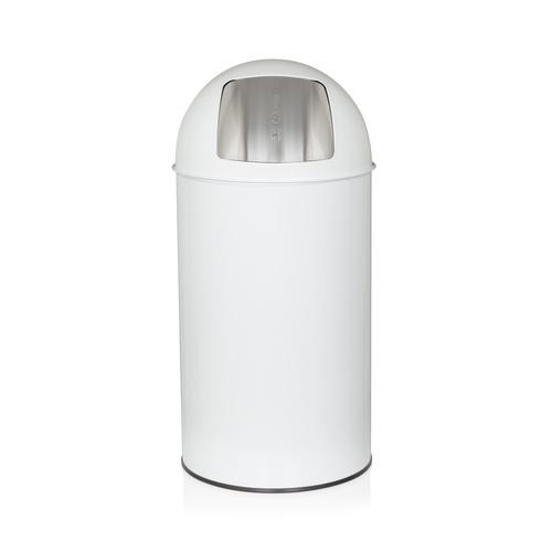 PUSH 50L - Mülleimer Weiß