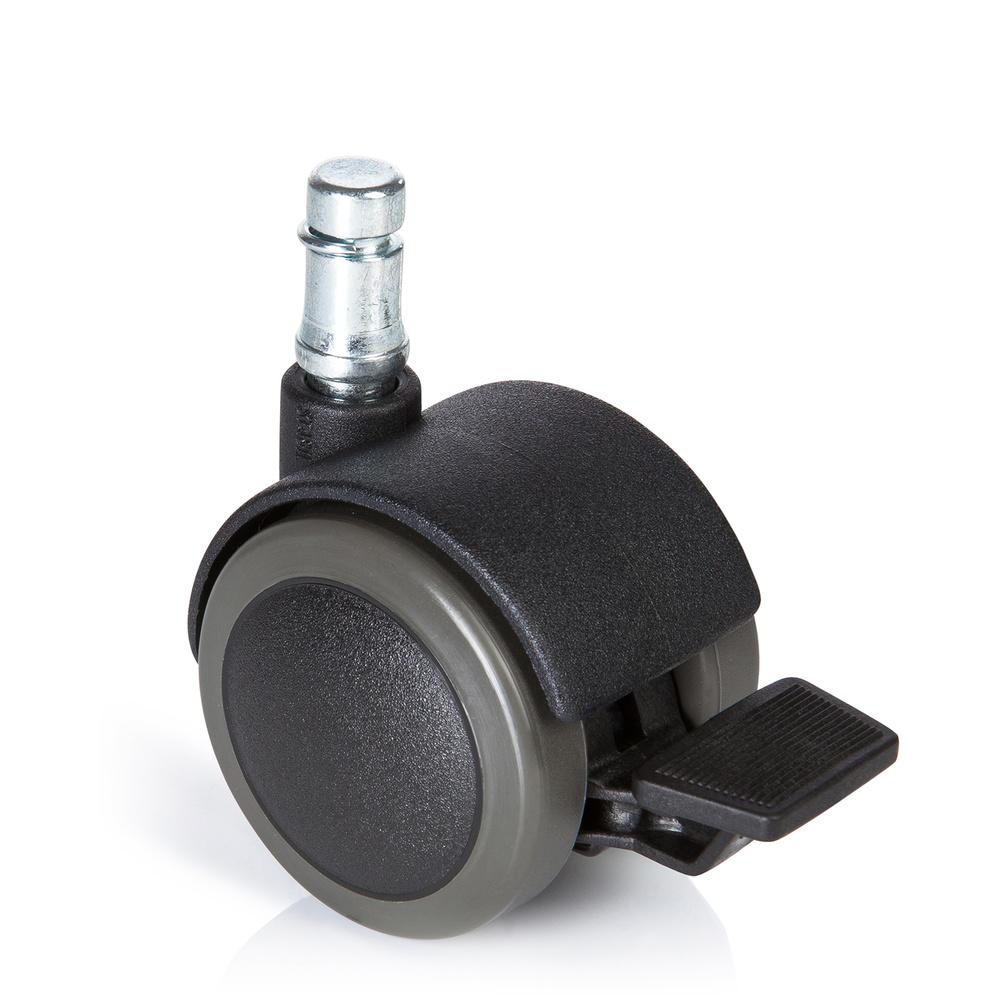 5x ROLO STOP 10mm/50mm - Stuhlrollen Schwarz